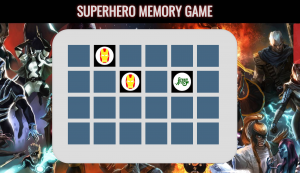 Mi Memory Game con superheroes de Marvel sin copyright